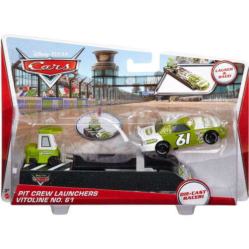 Vitoline No. 61 & Pitty Diecast Car With Launcher Pit Crew Launchers
