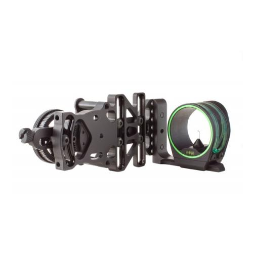 Trijicon AccuPin Bow Sight Green w  Dovetail Base & Larger Screw on AccuDial M by Trijicon