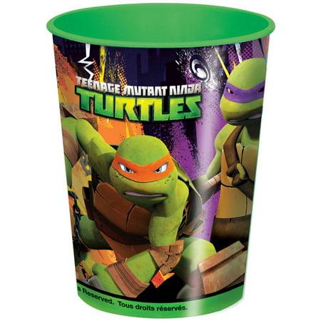 16oz Teenage Mutant Ninja Turtles Plastic Stadium Cup, 1ct - Ninja Turtles Birthday Party Supplies