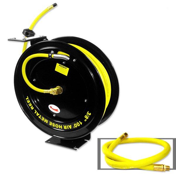 3/8  100 Foot Automatic Retractable Air Hose Reel  sc 1 st  Walmart & 3/8