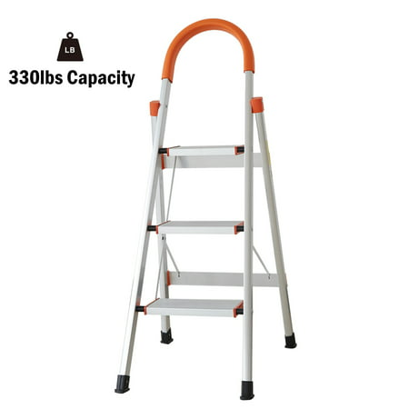 Outstanding Karmas Product 3 Step Ladder Portable Lightweight Folding Household Stepladder Anti Slip Step Stool With Wide Platform And Handgrip 330 Capacity Evergreenethics Interior Chair Design Evergreenethicsorg