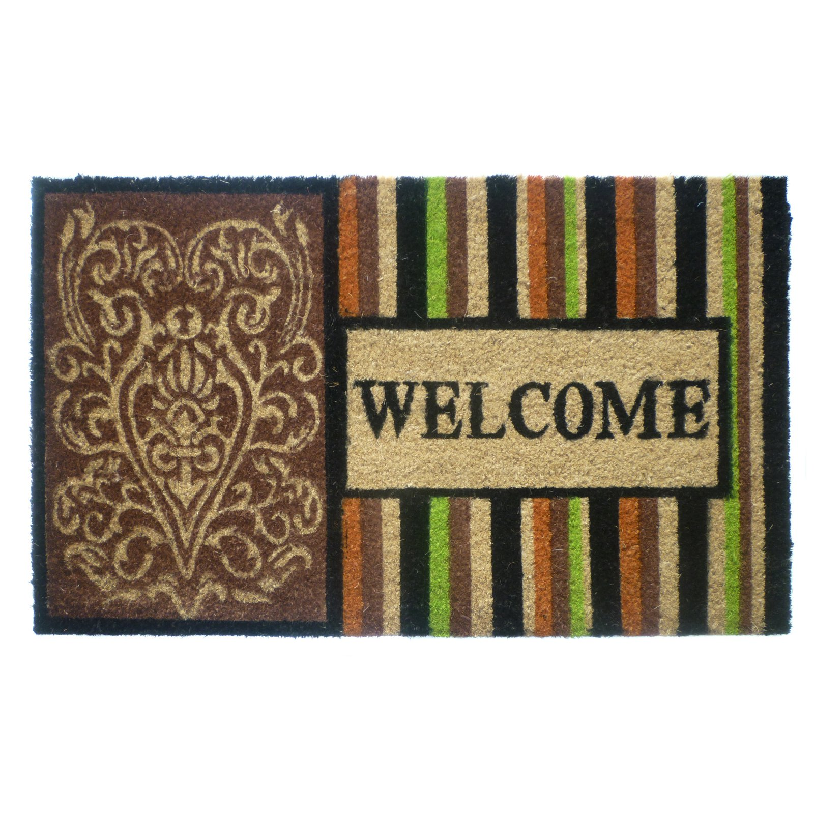 Geo Crafts Welcome Door Mat - 3 Stripes
