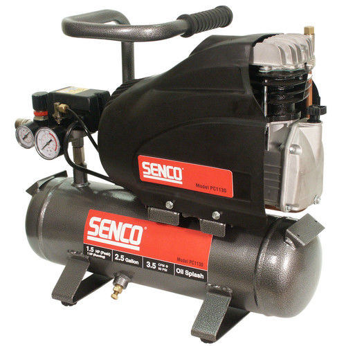 SENCO PC1130 1.5 HP 2.5 Gallon Oil-Lube Hand-Carry Air Compressor