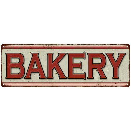 Bakery Restaurant Diner Food Vintage Look Metal Sign 6x18