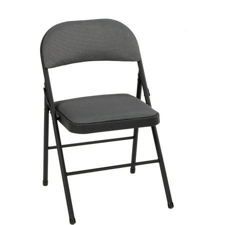 Enjoyable Mainstays Folding Fabric Chair Black Machost Co Dining Chair Design Ideas Machostcouk
