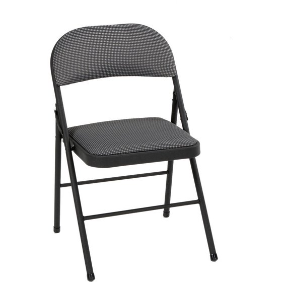 Walmart Chairs: Mainstays Folding Fabric Chair, Black