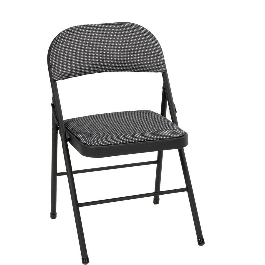 Mainstays Folding Fabric Chair, Black