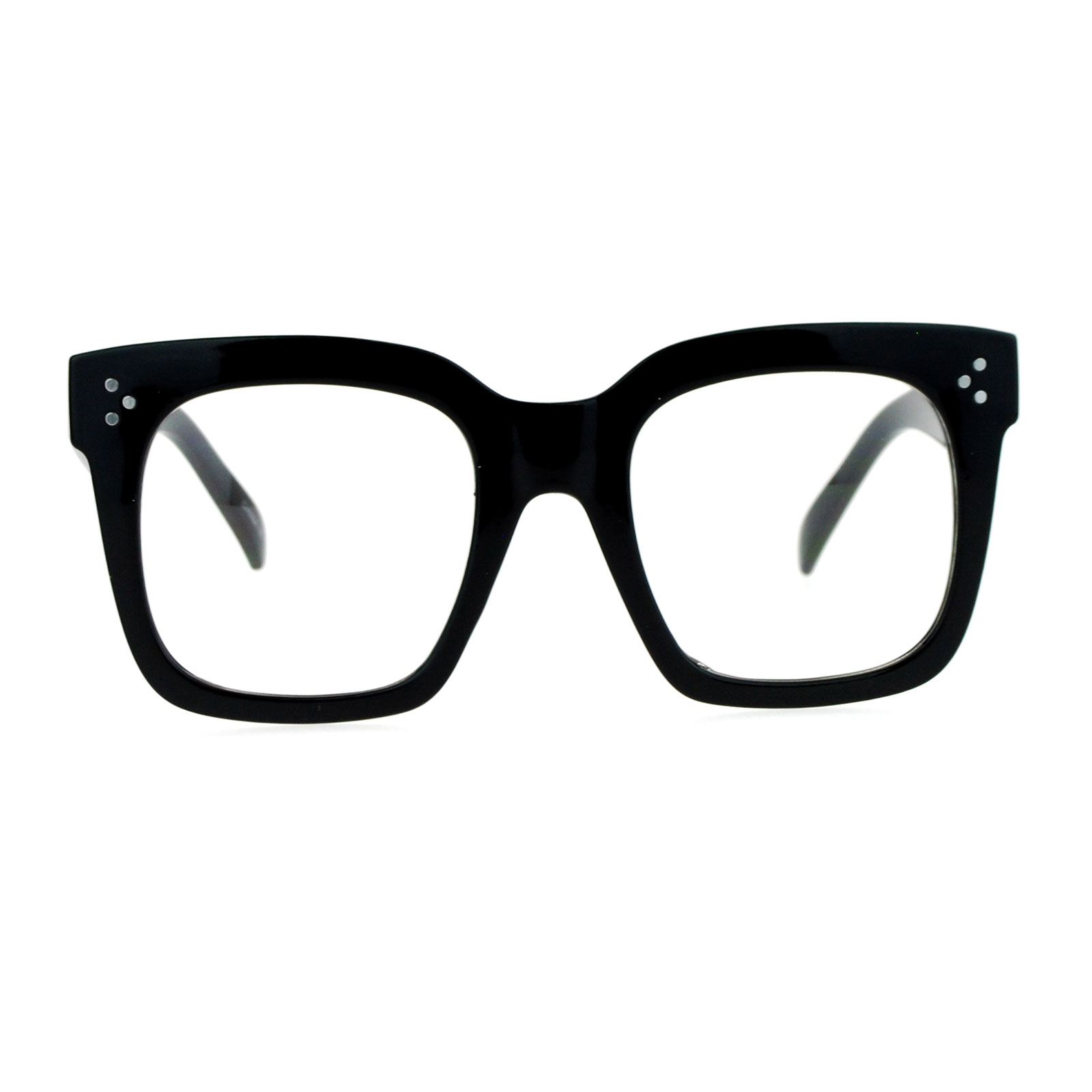 SA106 Oversize Thick Plastic Nerd Rectangular Horn Rim Horned Clear Lens Glasses Shinny Black - Walmart.com at Walmart - Vision Center in Connersville, IN | Tuggl