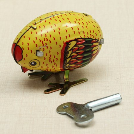 Wind Up Chick Tin Toy Clockwork Spring Pecking Chick Vintage Style - image 1 of 4