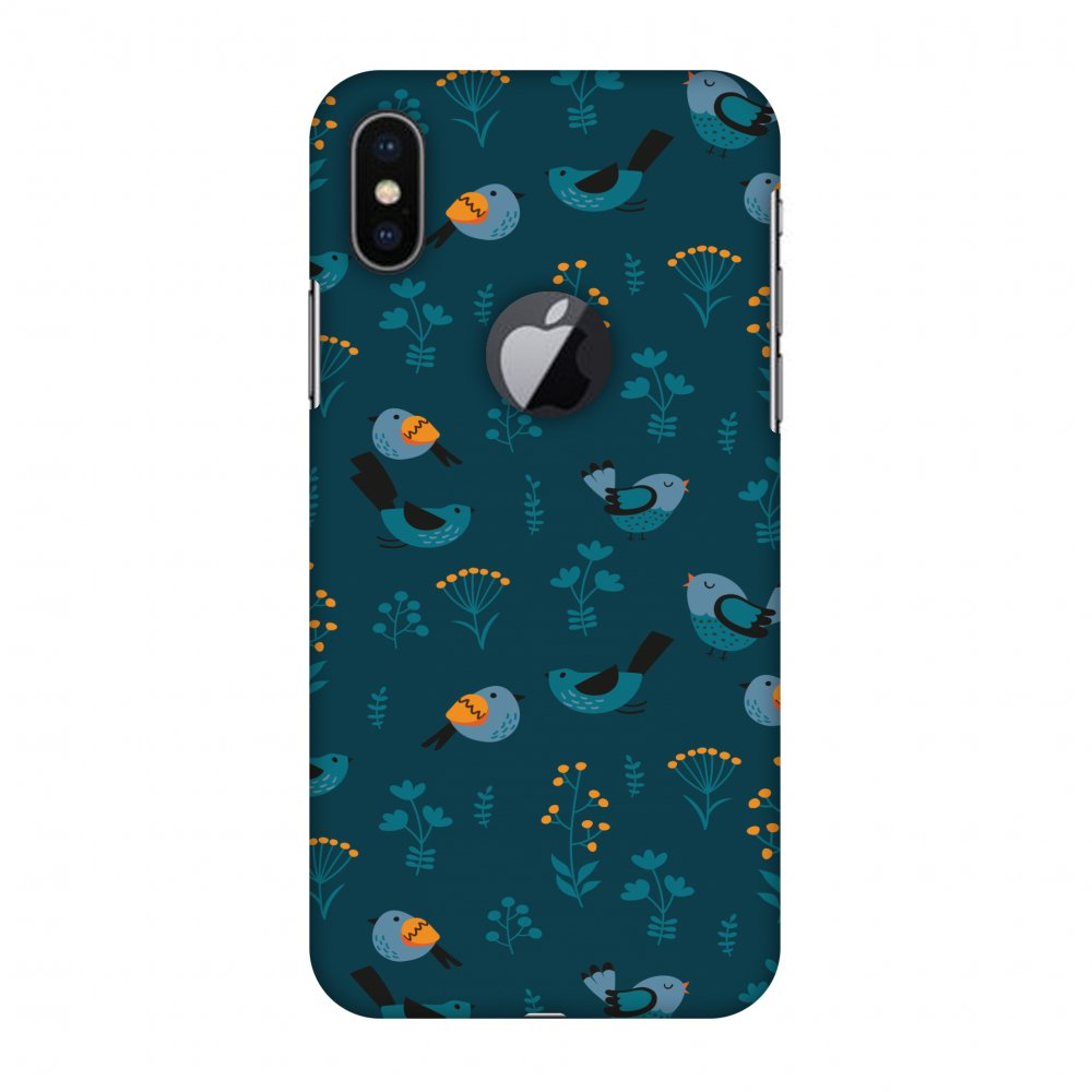 iPhone X Case, Premium Handcrafted Designer Hard Snap on Shell Case ShockProof Back Cover with Screen Cleaning Kit for iPhone X - Sparrow, Cut for Apple Logo