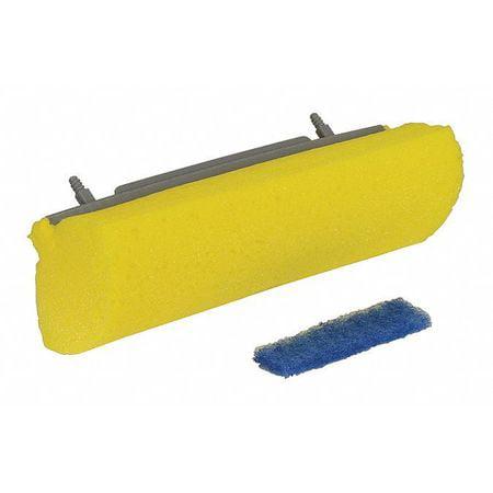 "QUICKIE Sponge Wet Mop Kit,9""W x 3-1/2""D,Yellow 582MB"