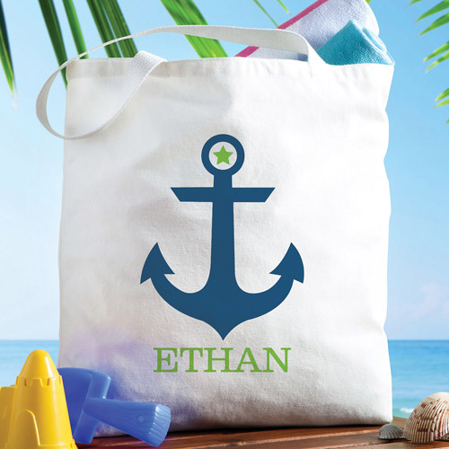 Personalized Boy Anchor Tote Bag