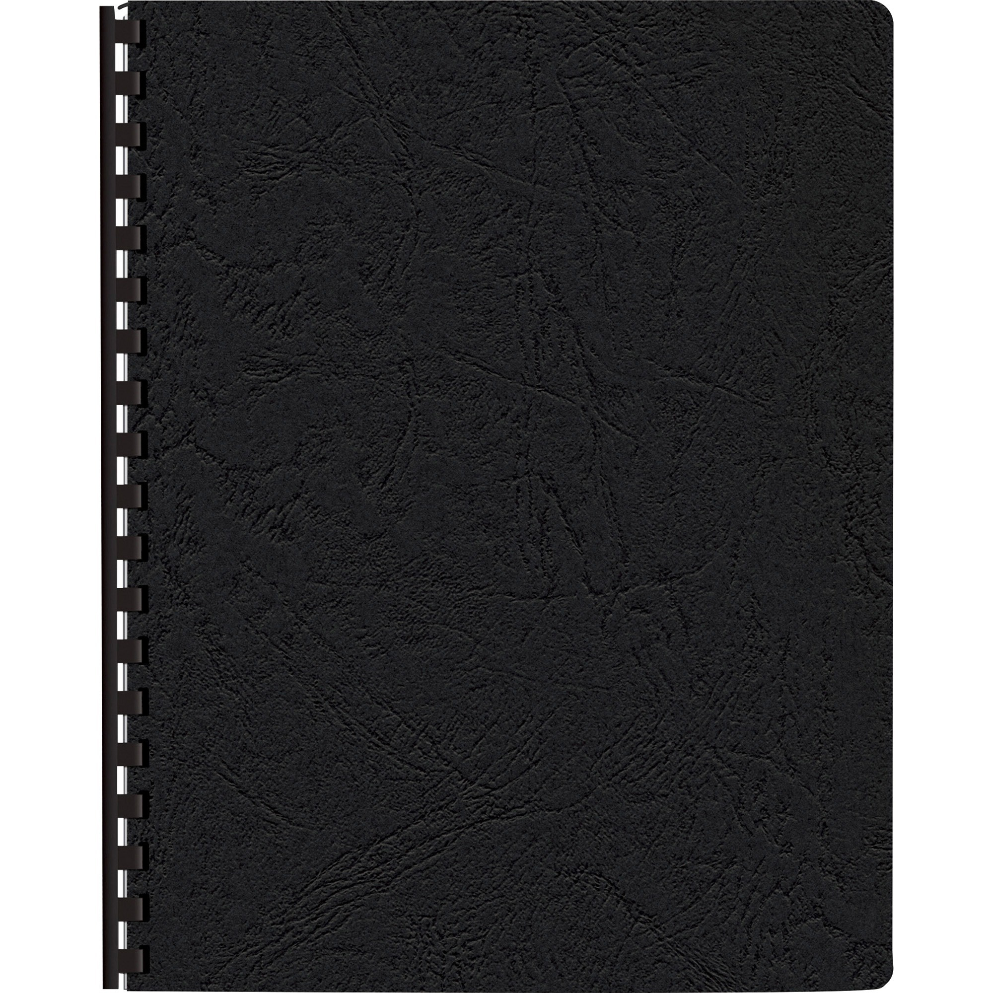Fellowes, FEL52138, Expressions Premium Textured Covers, 200 / Pack, Black