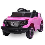 Battery Powered Ride on Toys, Kids Ride on Cars with Parent Remote & Manual Modes, 4-Wheeler 6V Ride On Car RC Toy, 3 Speeds Electric Ride On Toys with LED Lights, MP3 Player for Boys Girls, L5793