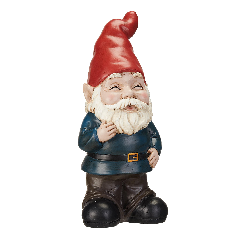 Mainstays Blushing Outdoor Garden Gnome Statue