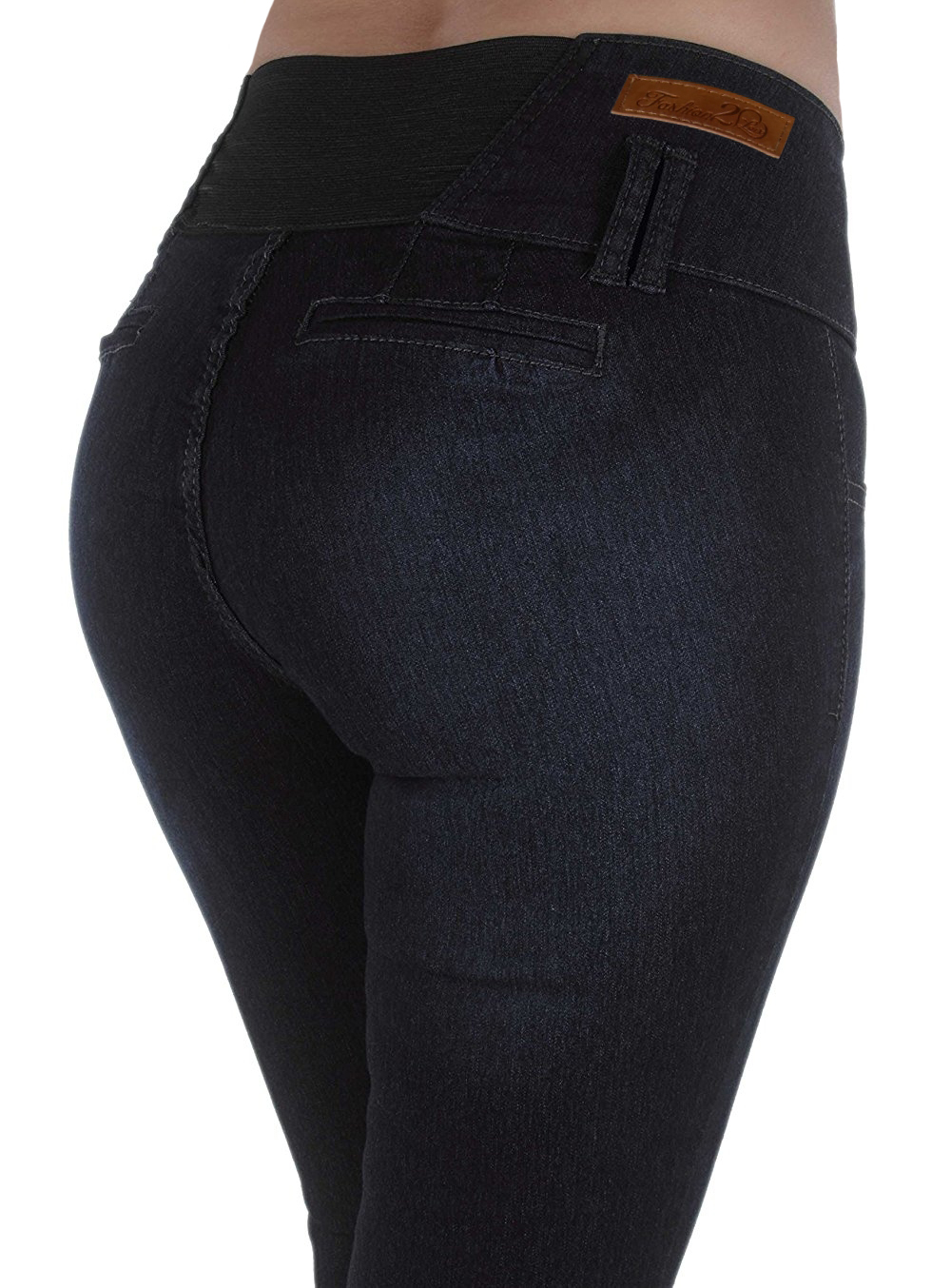 Style M652P  Plus Size High Waist Design Butt lift, Elastic Waist, Skinny Jeans