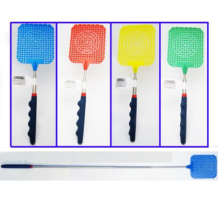 """Fly Swatter Telescopic Mosquito Killer Bug Insect Reach Plastic Extends 24"""" New"""