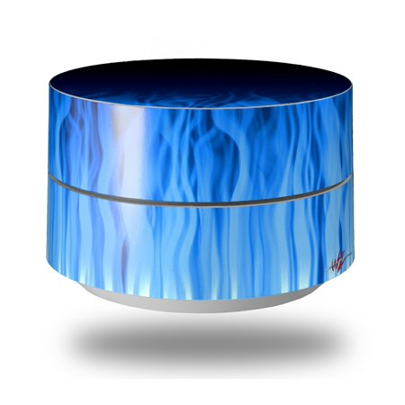 Wii Headphones (Skin Decal Wrap for Google WiFi Original Fire Blue (GOOGLE WIFI NOT INCLUDED) by WraptorSkinz )
