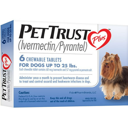 Pettrust Plus Ivermectin Pyrantel 6 Month Supply