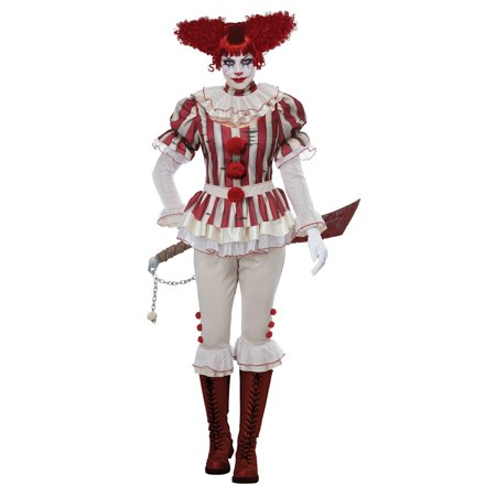 Sadistic Clown Women's Halloween - Halloween Movie Clown Costume