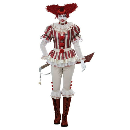 Sadistic Clown Women's Halloween Costume - Clown Halloween Costumes Women