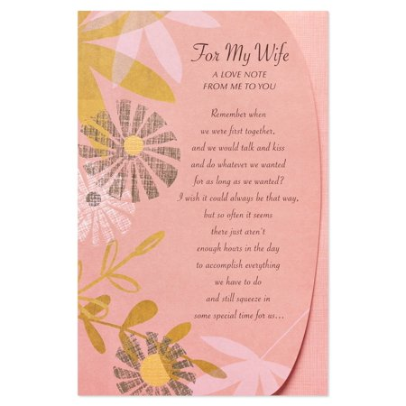 American Greetings Floral Anniversary Card for Wife with Foil