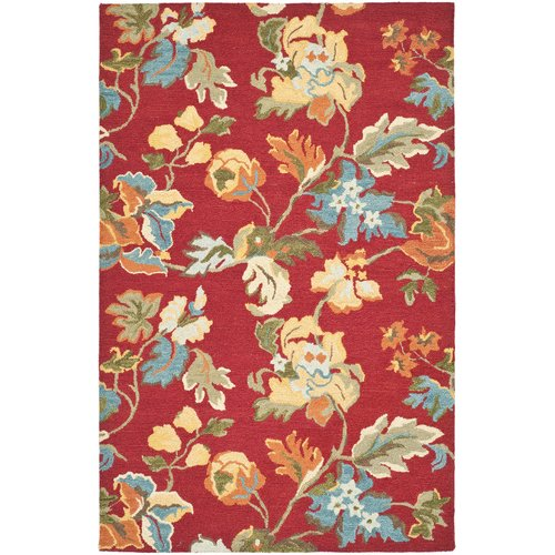 Safavieh Blossom Molly Wool Area Rug, Red/Multi