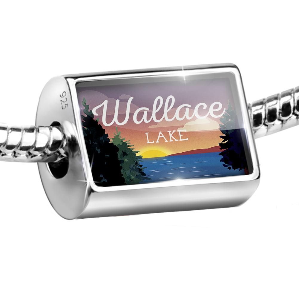 Bead Lake retro design Lake Wallace Charm Fits All European Bracelets