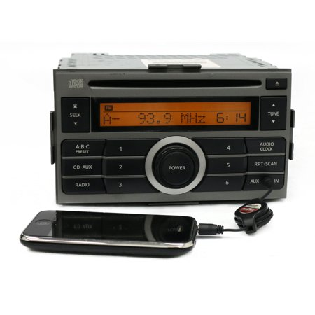 2007-2009 Nissan Sentra AM FM Radio Receiver Single Disc CD with Aux 28185 ET000 - Refurbished