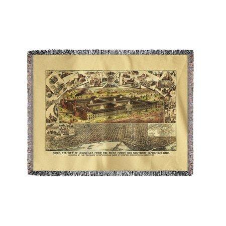 Louisville Blanket - Louisville, Kentucky - Exposition - Panoramic Map (60x80 Woven Chenille Yarn Blanket)