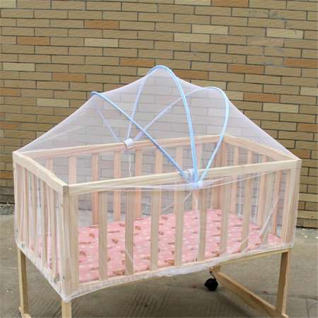 Baby Crib Bed Canopy (Meigar White Safe Baby Mosquito Nets Cradle Bed Canopy Mosquito Net Toddler's Crib Cot Netting Bedroom Accessories)