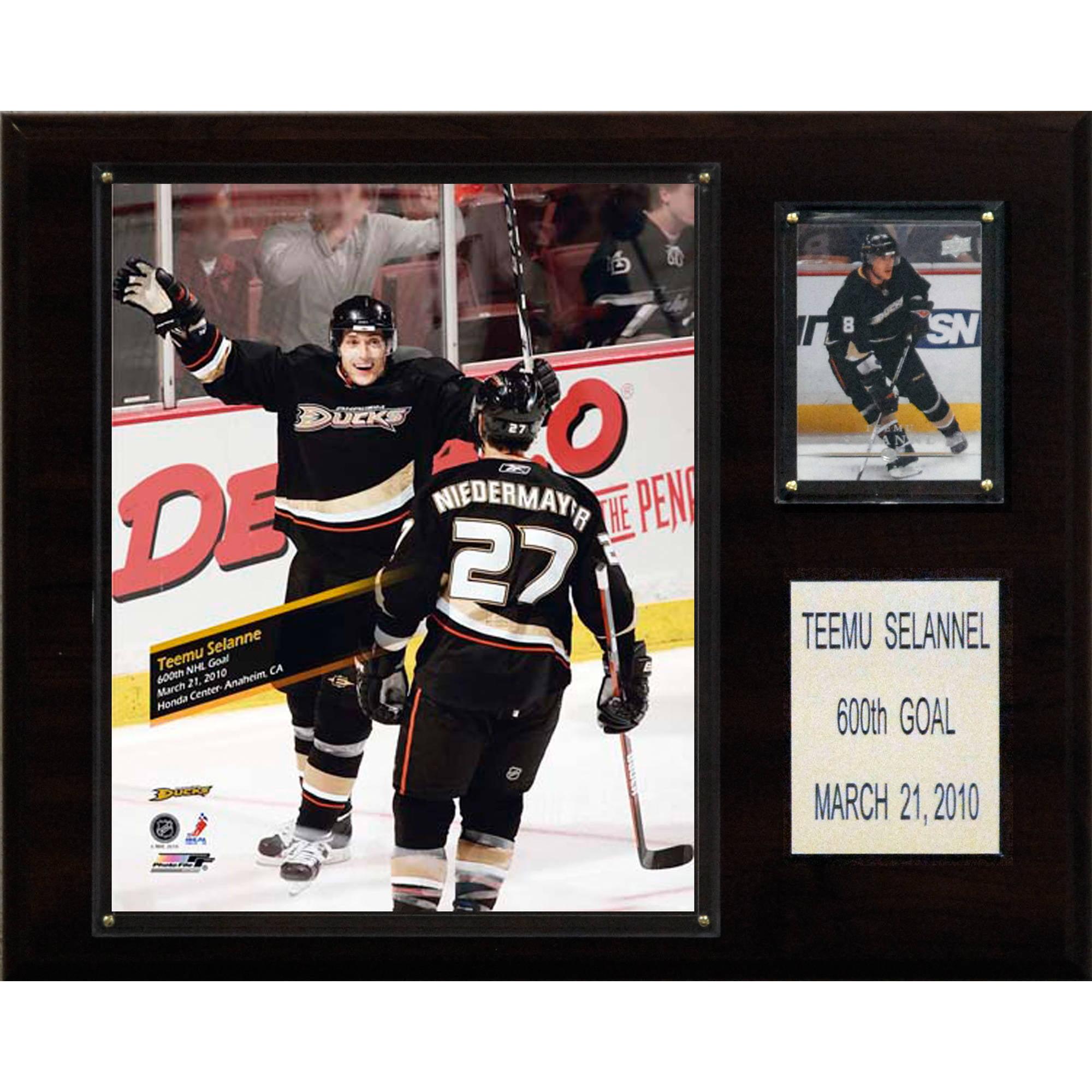 C&I Collectables NHL 12x15 Teemu Selanne Anaheim Ducks 600th Goal Plaque