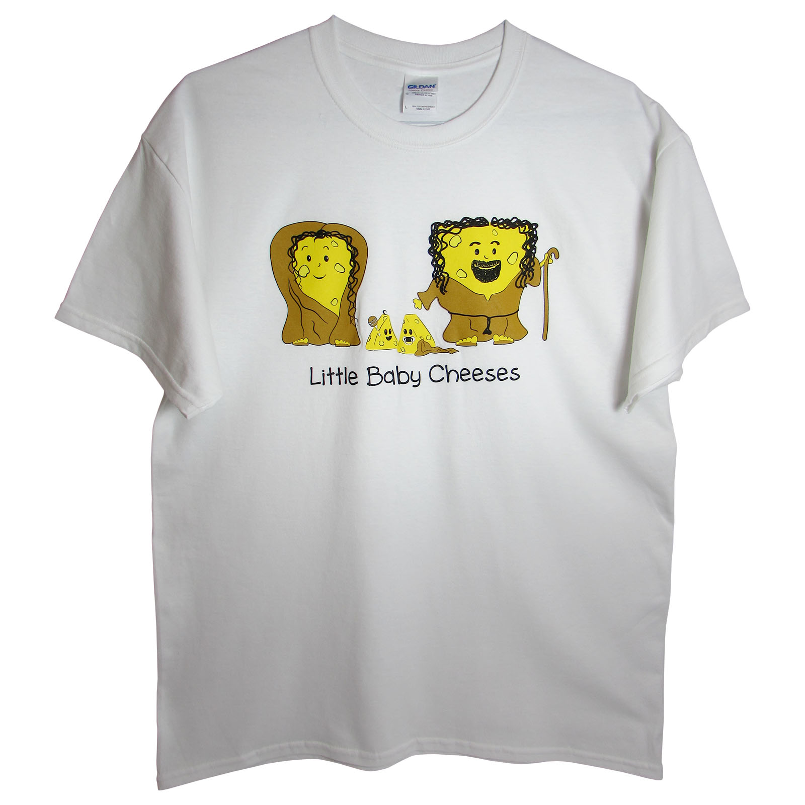100% Cotton Mens 'Mary, Joseph, and Baby Cheeses T-Shirt