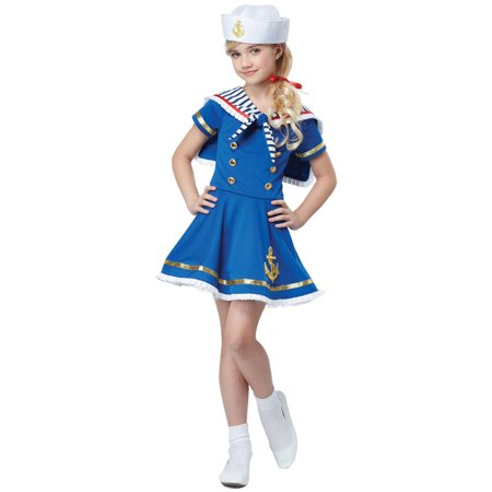 Sailor Girl Child Halloween Costume - Sailor Coatume