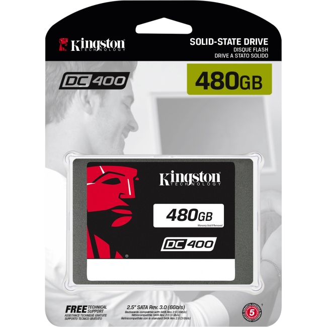 Kingston SEDC400S37/480G SSDNow DC400 - Solid state drive - 480 GB - internal - 2.5 inch - SATA 6Gb/s
