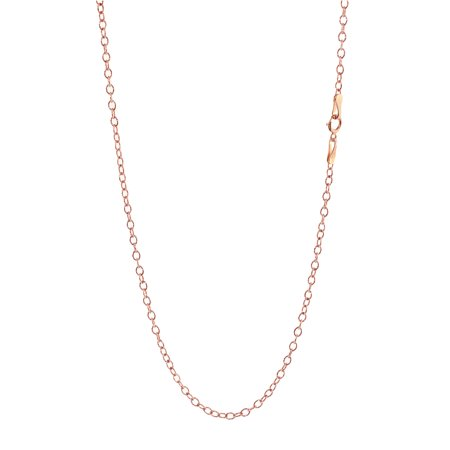 (Ladies 14K Rose Gold Solid Diamond Cut Rolo Chain Necklace 2.5mm 16