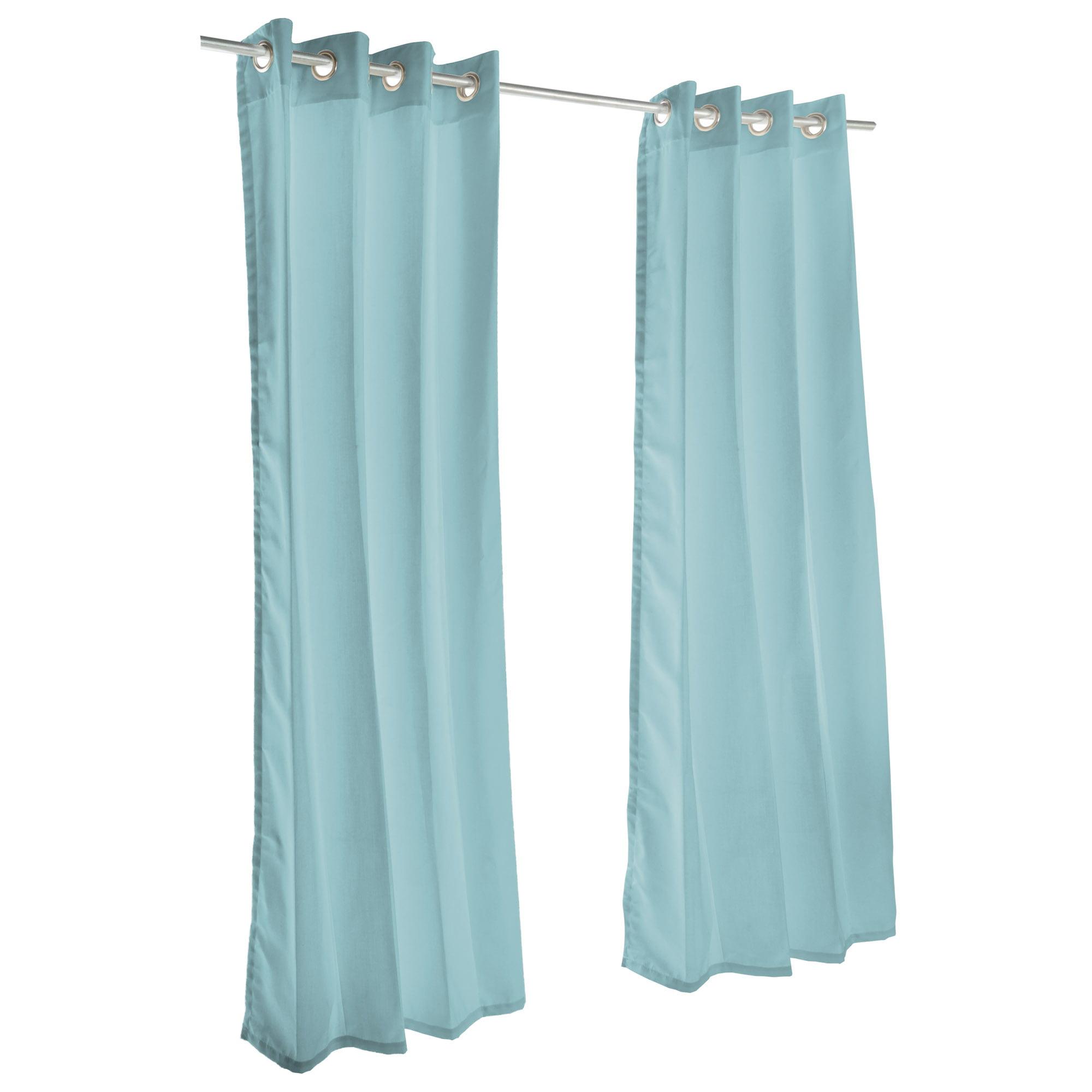 Pawleys Island Sunbrella Outdoor Gazebo Grommeted Solid Curtain Panel Spectrum Mist