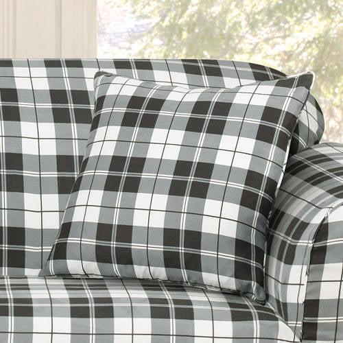 Surefit Soft Suede Plaid Pillow