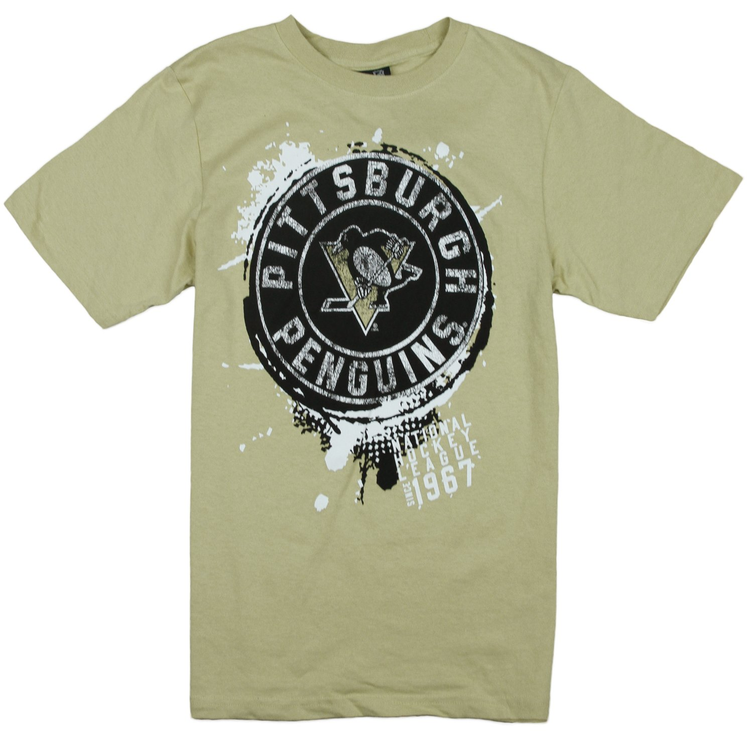 Adidas NHL Hockey Youth Boys Pittsburgh Penguins Vintage Tee Beige by