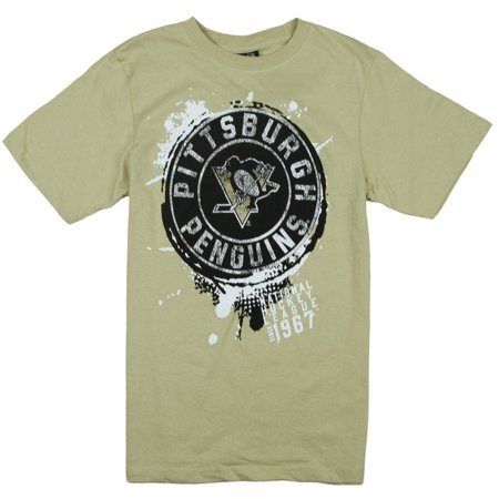 Adidas NHL Hockey Youth Boys Pittsburgh Penguins Vintage Tee - Beige