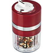 HoneyCanDo KCH-06110 Dial-a-Spice Container, Black & Chrome
