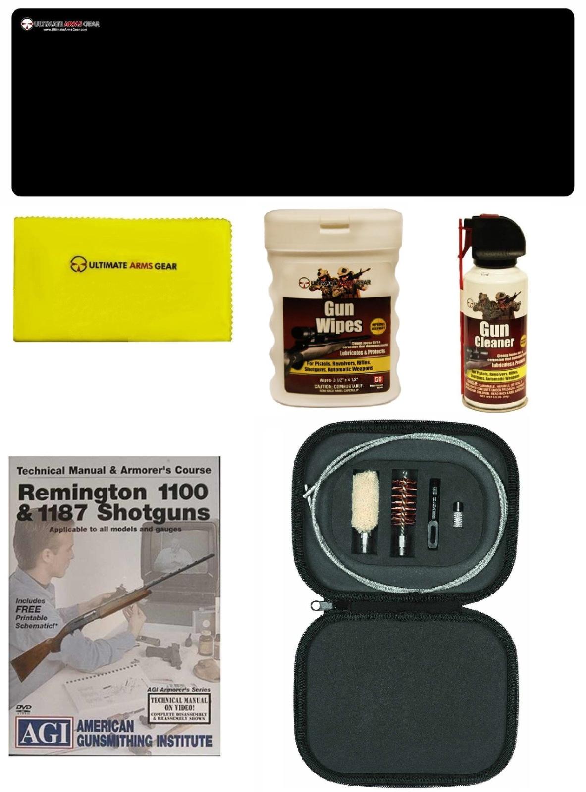 AGI DVD Manual & Armorer Course Remington 1100 1187 Shotgun + Ultimate Arms Gear Gunsmith Bench Gun Mat + 12 GA Cleaning... by
