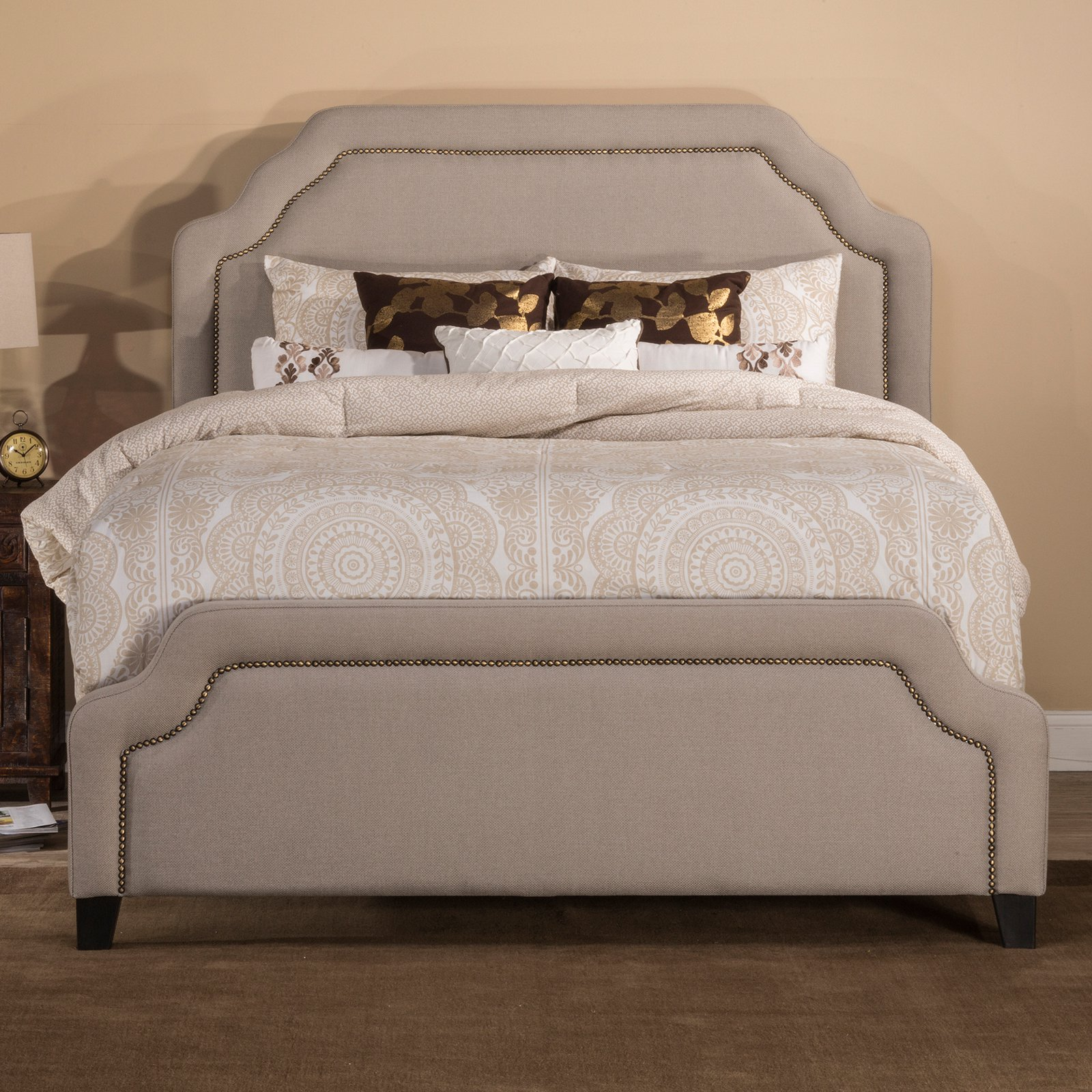 Hillsdale Furniture Carlyle Upholstered Panel Bed