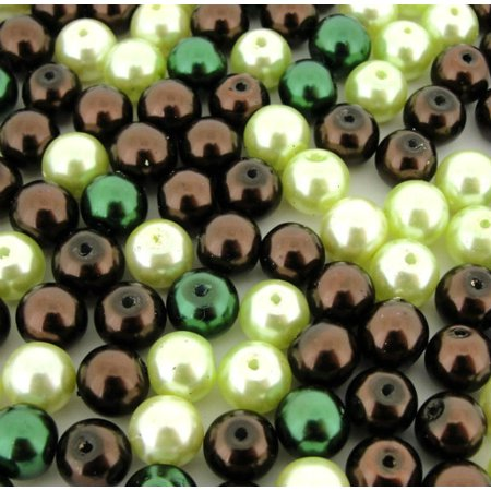 UnCommon Artistry Glass Pearl Mix 100pcs 8mm - Chocolate Mint Mix