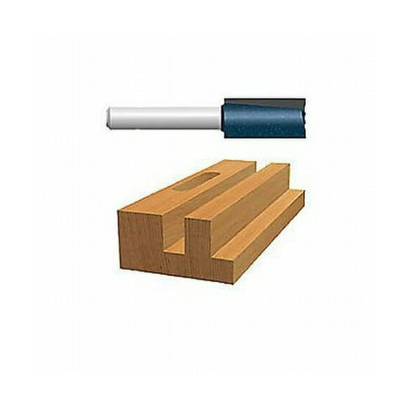 13/16u0022 X 1-1/4u0022 Carbide Tipped Double Flute Straight Bit (1/2u0022 Shank)