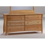 Rustic Dresser in Natural w Six Drawers