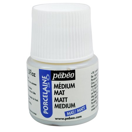Porcelaine 150 China Paint  Matt Medium 45 Milliliter Bottle  Use At 1 3 Matte Medium To 2 3 Color Ratio To Mattify The Colors  Can Also Be Used In    By Pebeo