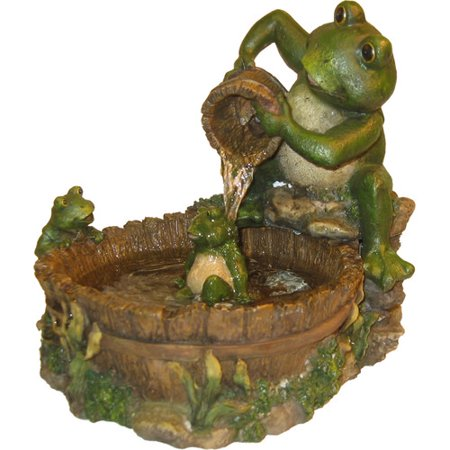Eternity Tabletop Fountain, Mother Frog Bathing Family