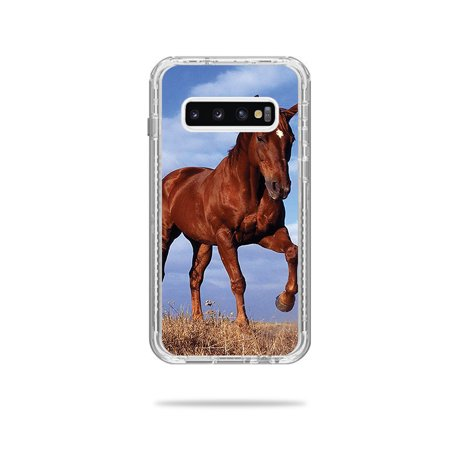 Skin For Lifeproof Next Case Samsung Galaxy S10+ - Horse | MightySkins Protective, Durable, and Unique Vinyl Decal wrap cover | Easy To Apply, Remove, and Change Styles (Horse Protective Case)