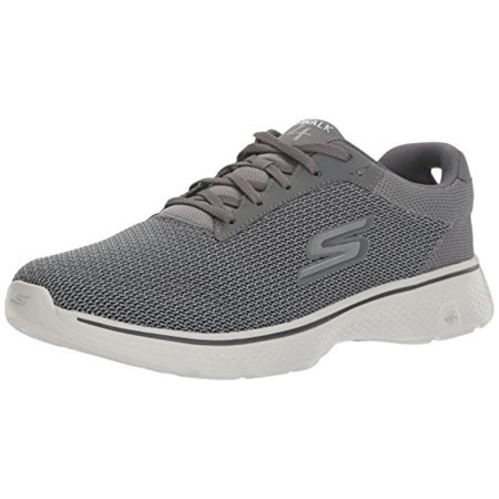 Mesh Men Sneakers - 54156 Charcoal Skechers Shoe GoWalk 4 Men Advanced Athletic Mesh Comfort Sneaker